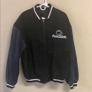 Vintage Penn Sate Leather Jacket